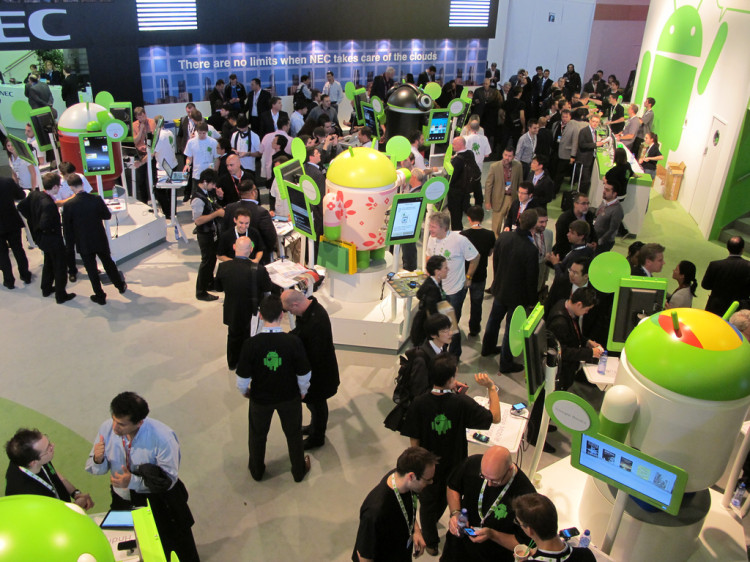 Stand d'Android al Barcelona MWC