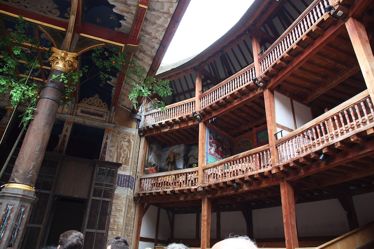 Interior del Shakespeare's Globe