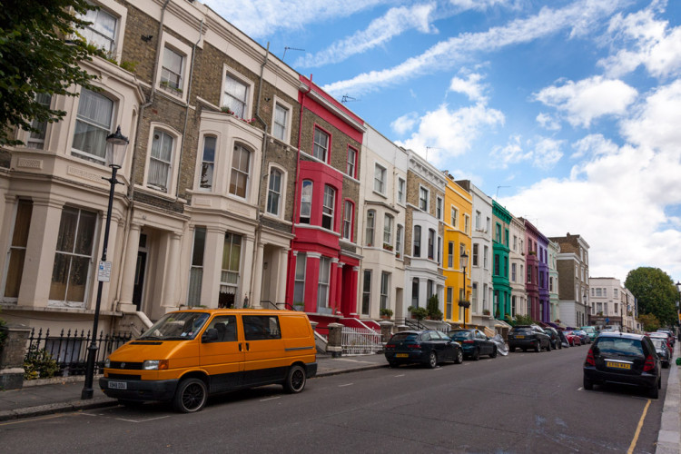 Calles de Notting Hill en Londres