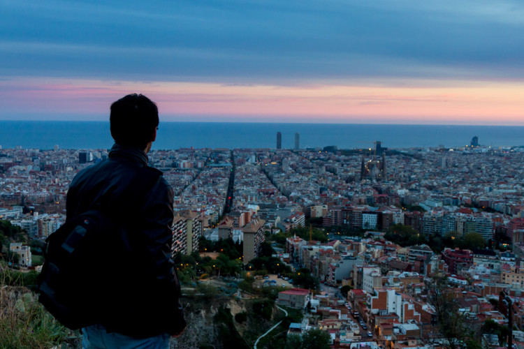 Barcelona from the Bunkers of Carmel
