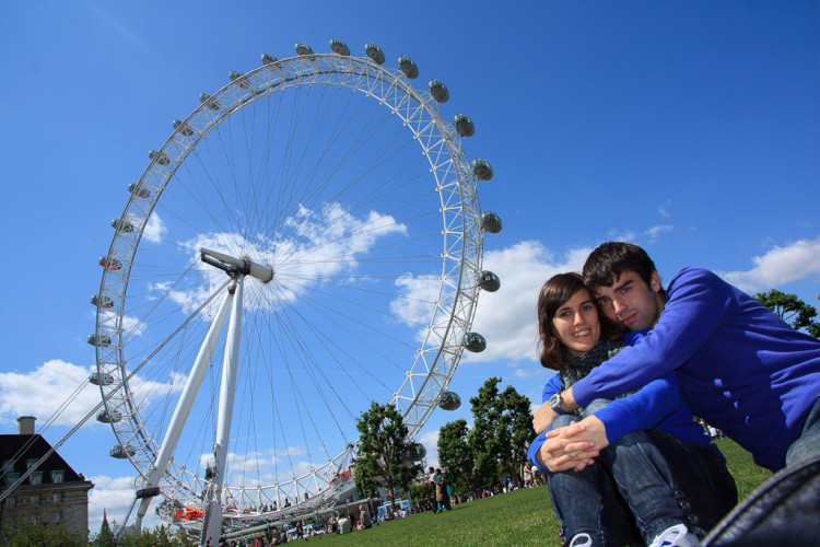 En el London Eye de Londres