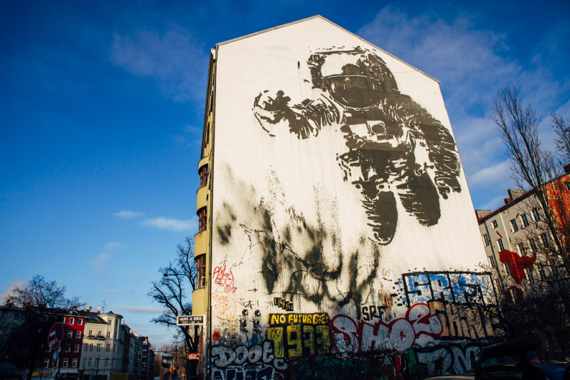 Graffiti The Astronaut en Berlin