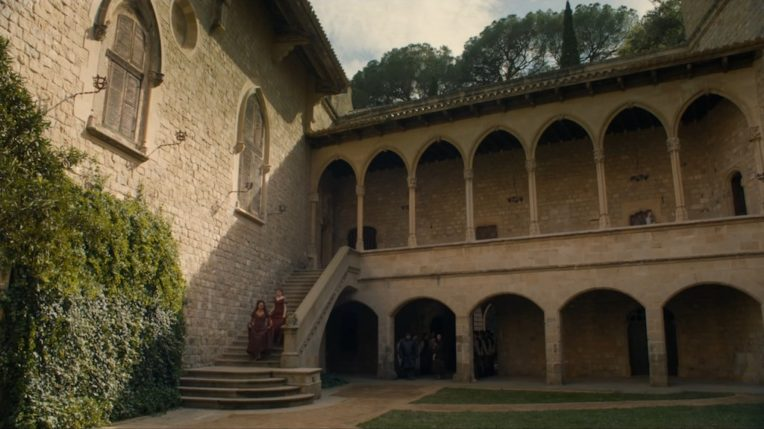 Locations of Game of Thrones in Girona: Castle of Santa Florentina in Canet de Mar