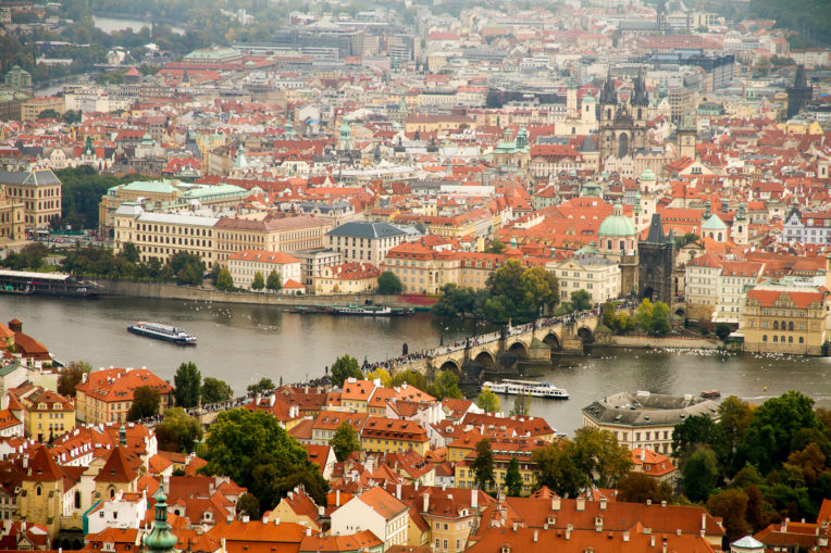 What to do in Prague in 4 days: Views of Prague from the Petřín Tower